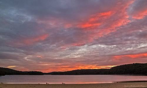 autumn sunset sky lake mountains fall beach water clouds canon evening newjersey powershot paintedsky g12 waywayandastatepark smack53