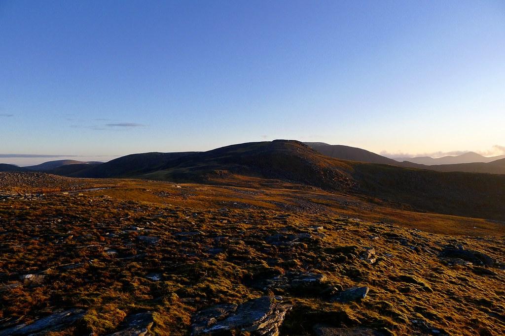 Eididh nan Clach Geala at sunset