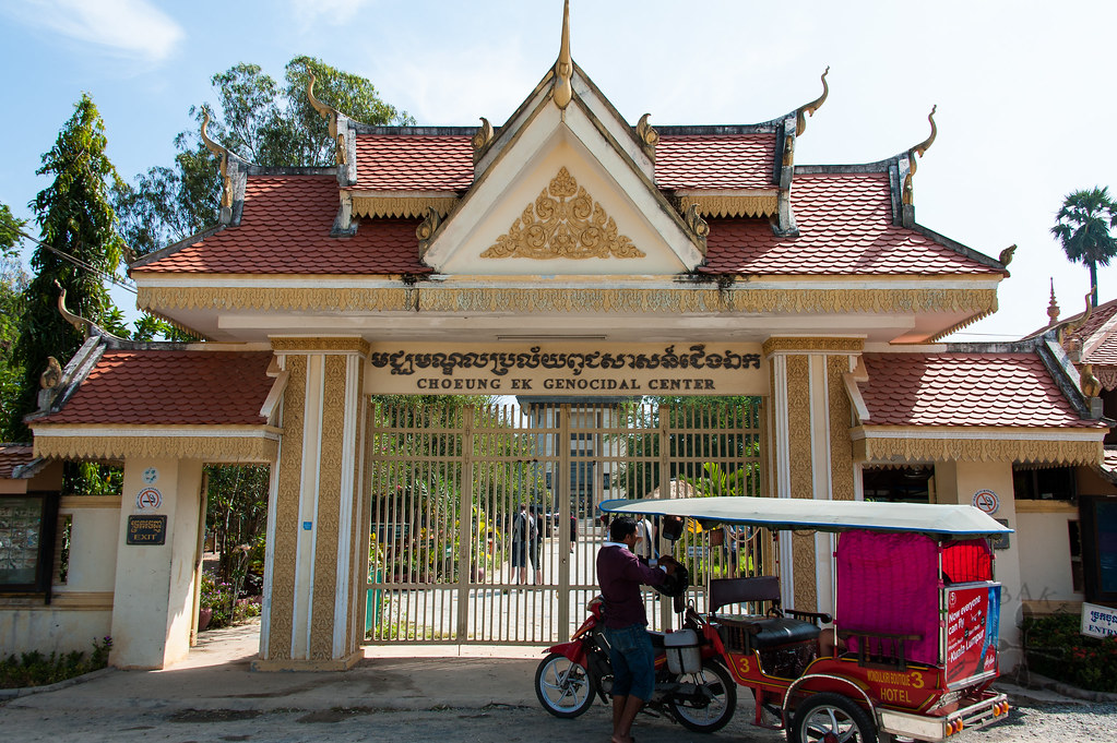 Entrance to the Choeung Ek Genocidal Center