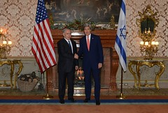 U.S. Secretary of State John Kerry and Israeli Prime Minister Benjamin Netanyahu meet in Rome, Italy, on December 15, 2014.  [State Department photo/ Public Domain]