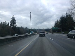 Seeing the State Capitol on the Horizon on I-5 South in Olympia, WA 11-26-14.