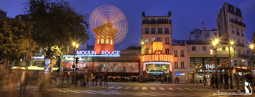 Moulin Rouge by Night, Paris