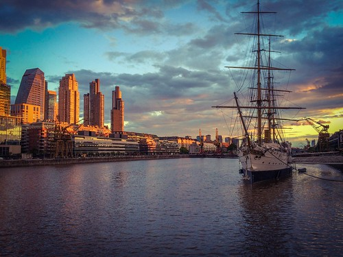 travel sunset argentina buenosaires cloudy puertomadero