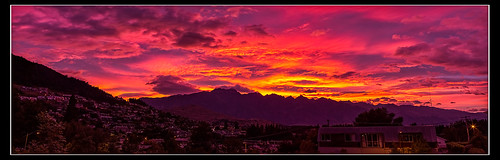 sunrise queenstown remarkables highcountry panarma canon1635 canon6d
