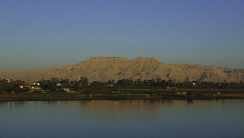 blue red sky holiday mountains reflection history love water beautiful river landscape sand ancient ruins view desert westbank egypt nile egyptian luxor rivernile