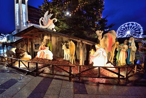 christmas landscape jesus noel autriche hauptplatz mages leoben étable portraitdenuit