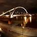 Puente de la Barqueta. Sevilla.Vista nocturna con el ojo de pez by anrapu