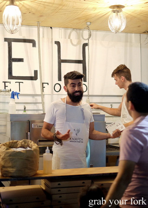 Bearded men at Knafeh, North Strathfield
