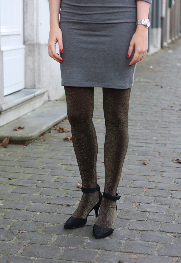 gold glitter tights pointy toe mary jane pumps