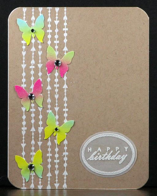 Pinkfresh Ombre Washi Butterfly Card | shirley shirley bo birley Blog