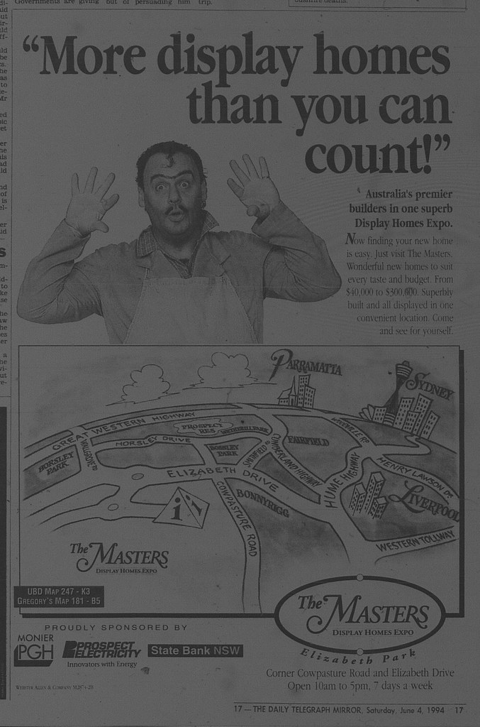 Masters Housing Ad June 4 1994 daily telegraph 17