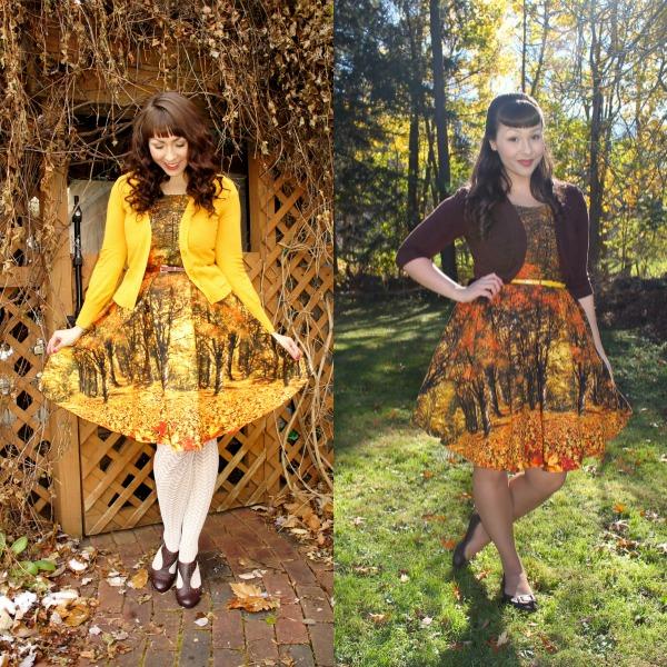 modcloth autumn dress