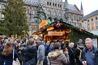 Christmas market on the Marienplatz in Munich, Bavaria, Germany