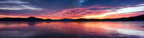 morning winter sky panorama sun lake snow cold ice water weather clouds sunrise frozen newengland newhampshire nh lakewinnipesaukee robertallanclifford robertallancliffordcom