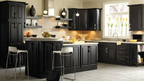 Painting Kitchen Cabinets Antique Black