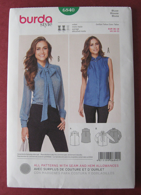 Burda shirt pattern
