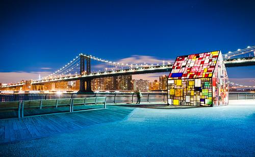 bridge newyork brooklyn manhattan twillight