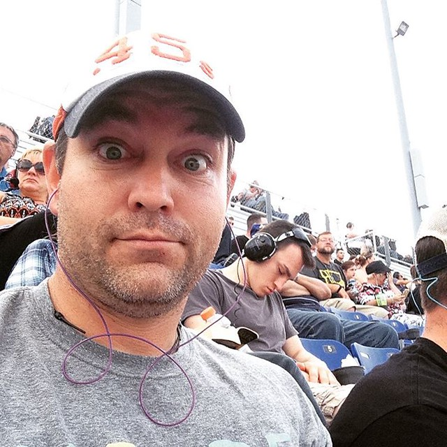 This guy was not as intrigued with NASCAR as I was.
