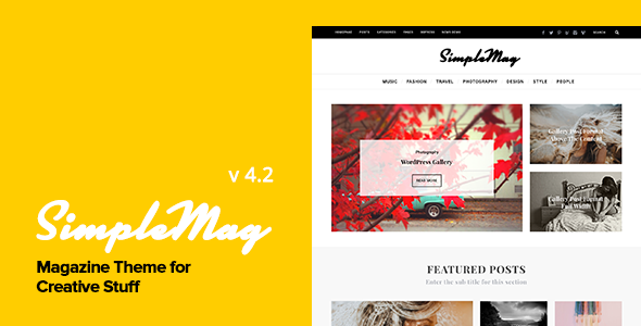 SimpleMag v4.4 - Magazine theme for creative stuff