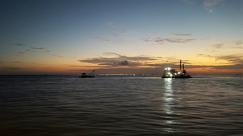 texas galvestonbay bolivarroads sunset