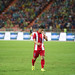 BANGKOK-THAILAND-5JUNE,2016:Kroekrit taweekan player of thailand national team in action match King's cup between Thailand and Jordan at rajamangkala Stadium in Thailand on 5 june 2016