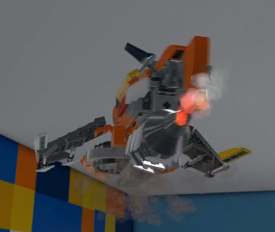 Lego Movie Flying Super Cycle Under-wing Detail