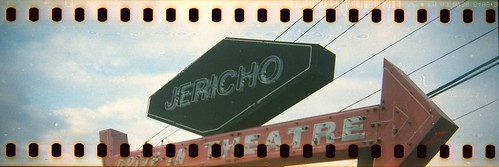 Jericho Drive-In Marquee with sprocket holes