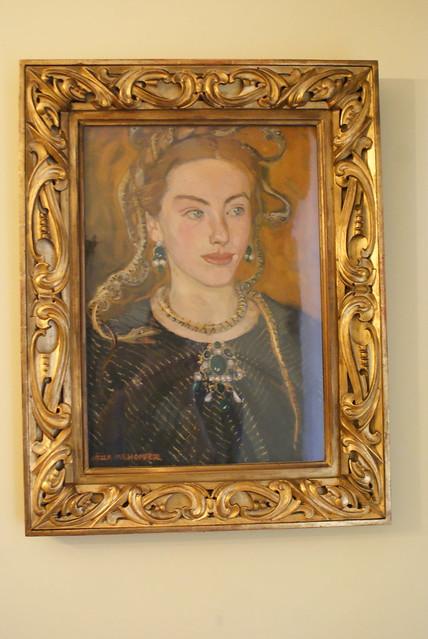 Portrait de femme par Mehoffer
