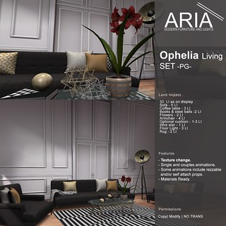 [ARIA] Ophelia Living Set at Uber!
