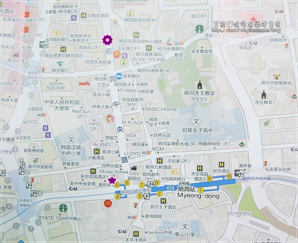 05-0明洞地圖