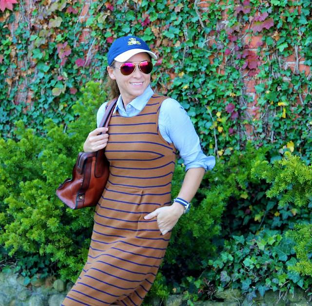 how to style a baseball cap via Kristina J blog