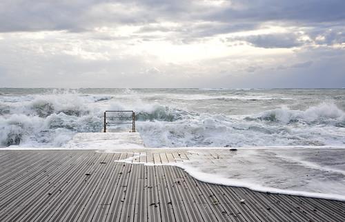winter sea seascape water port waves harbour cyprus wave paphos