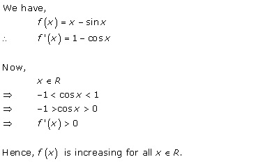 Free Online RD Sharma Class 12 Solutions Chapter 17 Increasing and Decreasing Functions Ex 17.2 Q9