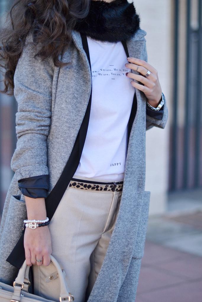 Cómo combinar un abrigo largo gris