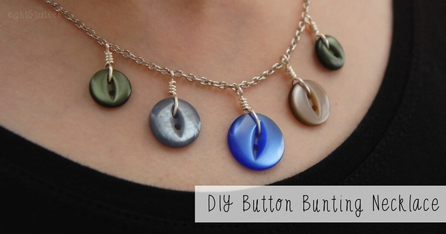 diy button bunting necklace tutorial by eight & sixteen