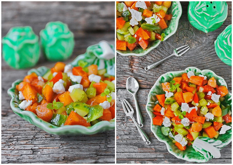 ...persimmon salad and jalapeno collage new