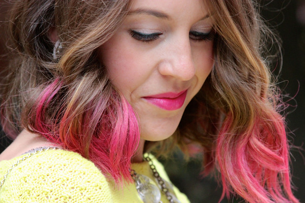 redken color rebel hair makeup review, punk'd up pink, pink ombre hair, tutorial, style tab,
