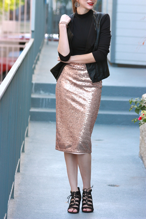 Sequin Skirt, Midi Skirt