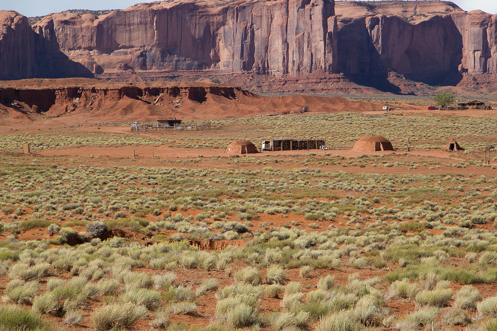 Hogans - Traditional Navajo Dwellings - Monument Valley