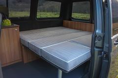 Campervan full width bed