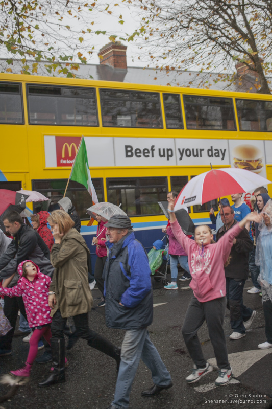 Dublin water protest kids