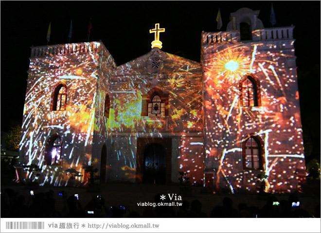 【萬金教堂】屏東萬金教堂聖誕季~3D光雕秀+耶誕地景藝術/全台最濃耶味小鎮!24