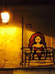 8 bit Graffiti by #Invader in Paris