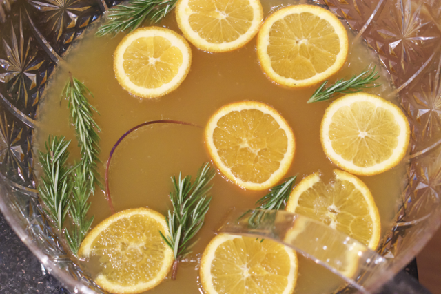 holiday champagne punch