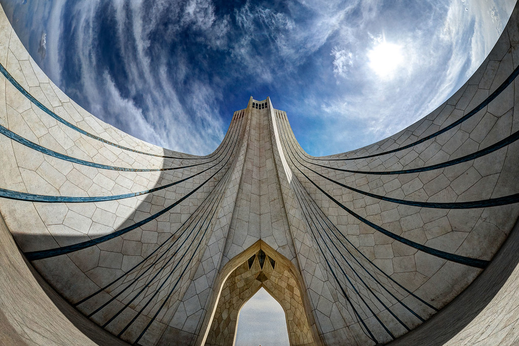 Azadi tower, Tehran, photo by Mohammad Reza Domiri Ganji
