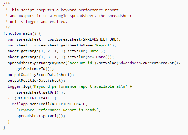 Adwords Scripts
