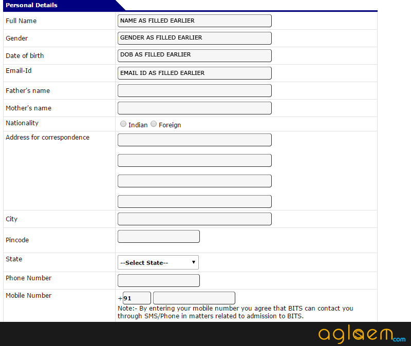 How To Fill BITSAT 2015 Application Form Explained   bits  Image