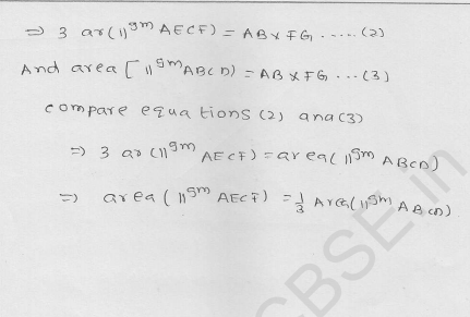 RD Sharma Class 9 solutions Chapter 15 Areas of parrallelograms and Triangles Ex 15.3 14