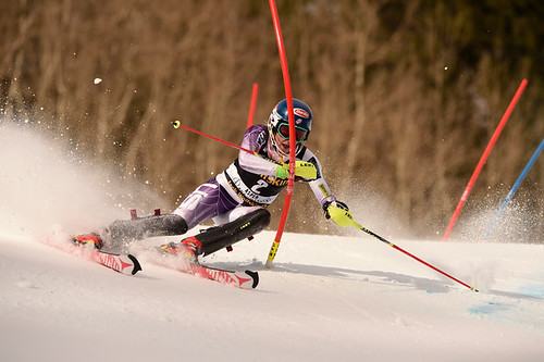 Mikaela Shiffrin at Aspen slalom 2014