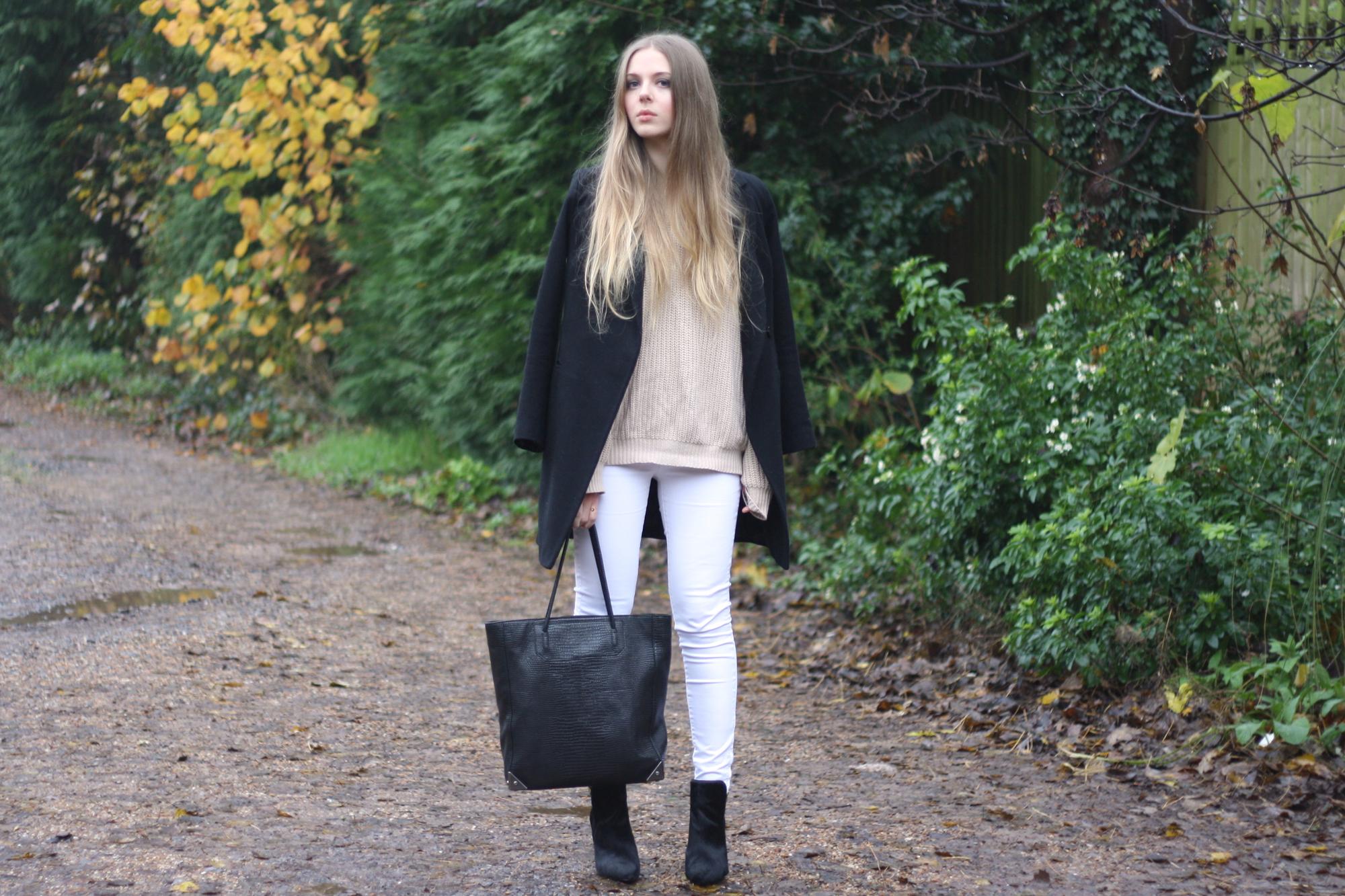 ASOS black slim coat